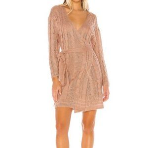 Tularosa Clyde Wrap Sweater Dress